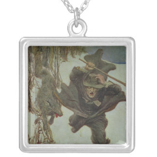 Once it Chased Doctor Wilkinson Silver Plated Necklace