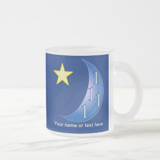 Once or Ones in a Blue Moon Frosted Glass Coffee Mug