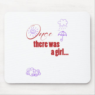 Once There Was A Girl - Embellished with Weather Mouse Pad