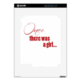 Once There Was A Girl iPad 2 Decals