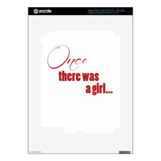 Once There Was A Girl iPad 3 Decal