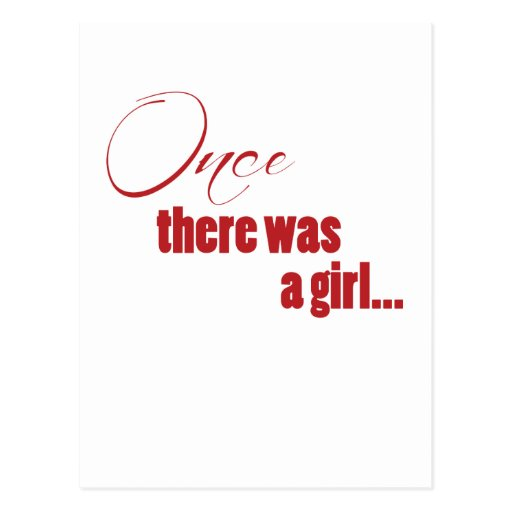 Once There Was A Girl Postcards