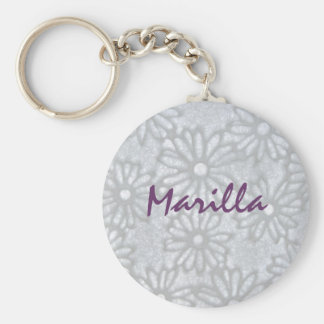 once upon a daisy basic round button keychain