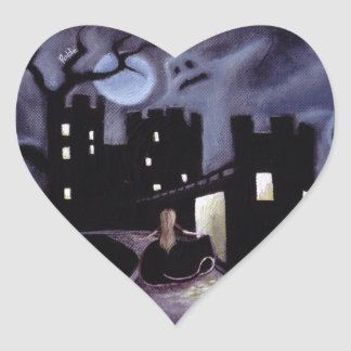 Once Upon a Haunted Fairy Tale Heart Sticker