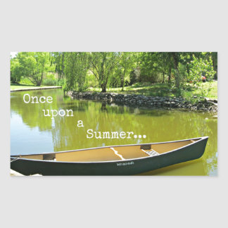 Once Upon a Summer... Rectangle Sticker