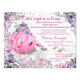 Once Upon a Time Baby Shower 4.25x5.5 Paper Invitation Card