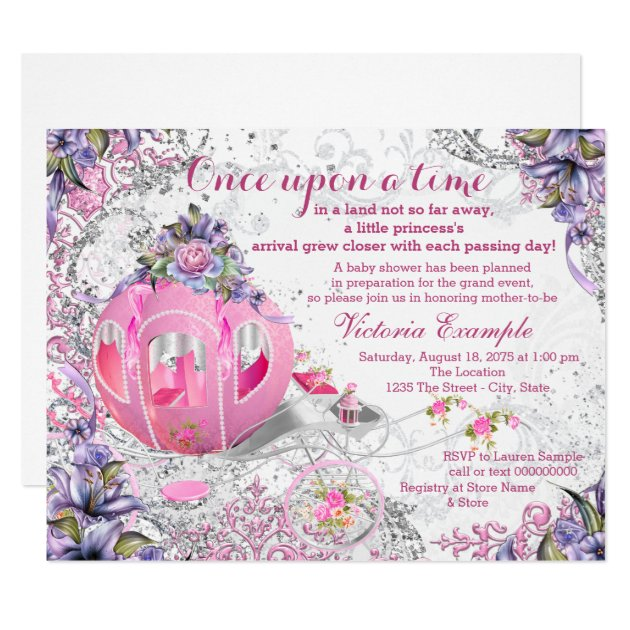 once upon a time invitations & announcements | zazzle, Baby shower invitations