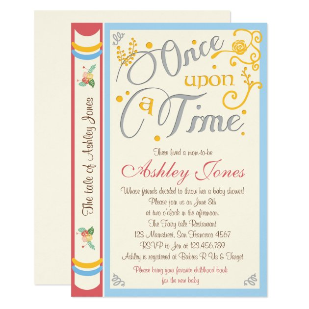 once upon a time baby shower invitation fairy tale | zazzle, Baby shower invitations