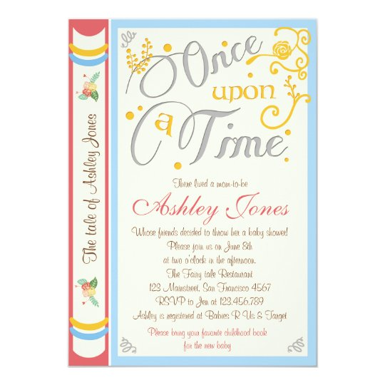 Once Upon A Time Baby Shower Invitation Fairy Tale Zazzle Com