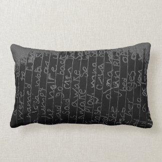 Once upon a time black silver writing kids story throw pillows