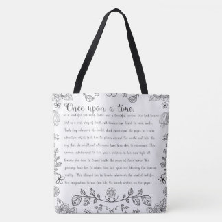 Once Upon A Time Book Story Tote Bag