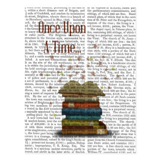 Once Upon A Time Books Postcard