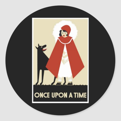 Once Upon A Time By Whitley Kenneth Classic Round Sticker