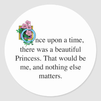 Once upon a time classic round sticker