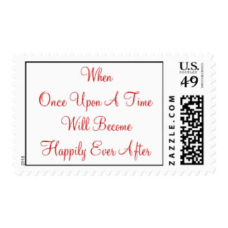 Once Upon A Time - Customized Postage Stamp