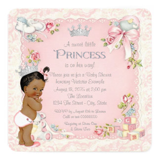 Once Upon a Time Ethnic Princess Baby Shower Card