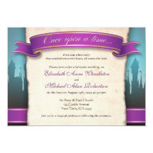 "Once Upon a Time Fairytale Wedding Invitations 5"" X 7"" Invitation Card"