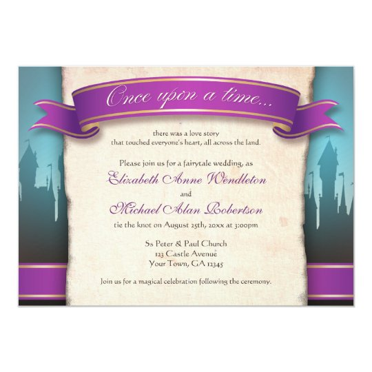 once upon a time fairytale wedding invitations. Black Bedroom Furniture Sets. Home Design Ideas
