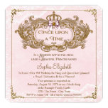 Once Upon a Time Girls Princess Birthday Party Card