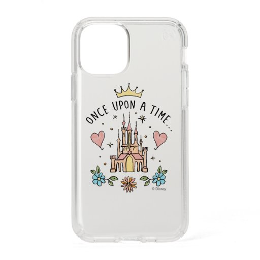 """""""Once Upon A Time"""" Hand Drawn Princess Castle Speck iPhone 11 Pro Case"""