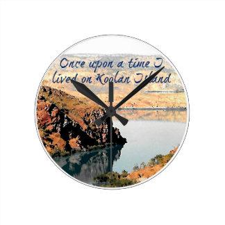 Once Upon a Time I Lived On Koolan Island clock