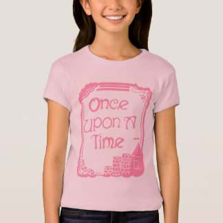 Once Upon A Time in Pink Girls' Cap Sleeve T-Shirt