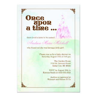 Once Upon a Time Invitation - Pink