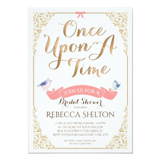Once Upon A Time Invite 5x7 Bridal Birthday Baby