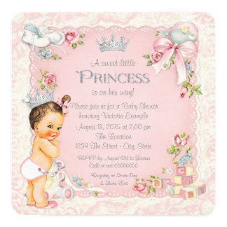 Once Upon a Time Little Princess Baby Shower Card