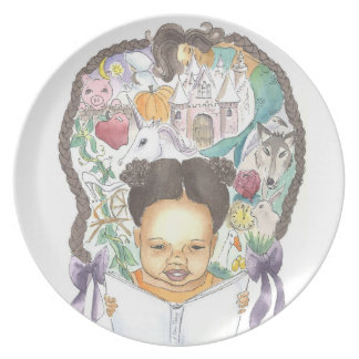 Once Upon a Time Little Reader Girls Plate