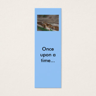 Once upon a time... Mini Bookmarks Mini Business Card