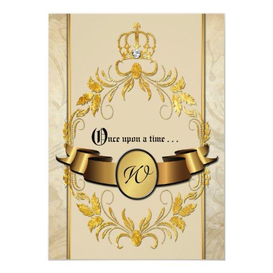 once upon a time monogram fantasy wedding invite zazzle. Black Bedroom Furniture Sets. Home Design Ideas