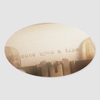 Once Upon A Time Oval Sticker