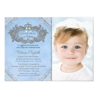 Once Upon a Time Photo Princess Birthday Card