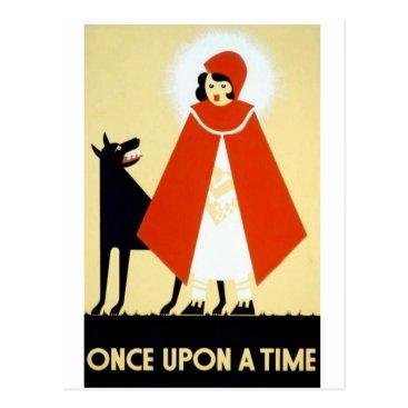 USA Themed Once upon a Time Postcard
