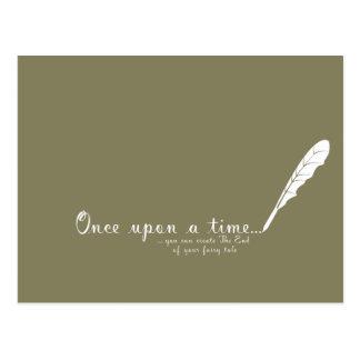 Once upon a time... postcard