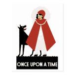 Once upon a time postcard