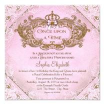 Once Upon a Time Princess 1st Birthday Card