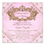 "Once Upon a Time Princess 1st Birthday 5.25"" Square Invitation Card"