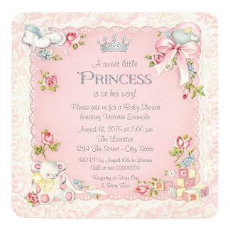 Once Upon a Time Princess Baby Shower Card