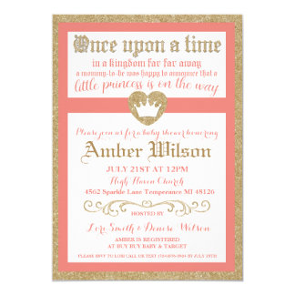 Marvelous Once Upon A Time Princess Baby Shower Invitation