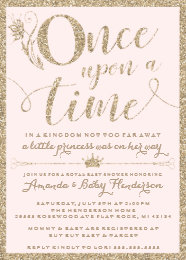 Princess baby shower invitations announcements zazzle once upon a time princess baby shower invitation filmwisefo
