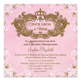 Fairy birthday invitations announcements zazzle once upon a time princess birthday card stopboris Choice Image