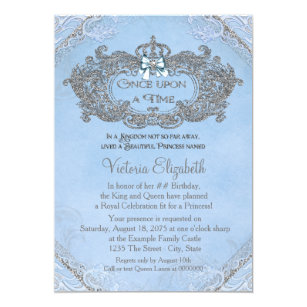 once upon a time invitations zazzle