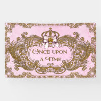 Once Upon a Time Princess Birthday Party Banner
