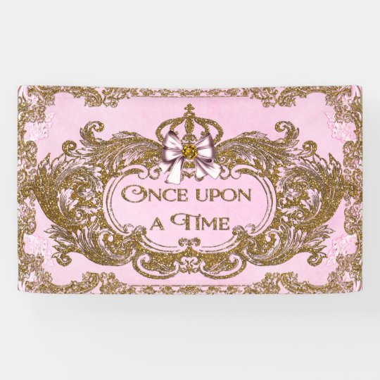 Once Upon a Time Princess Birthday Party Banner | Zazzle