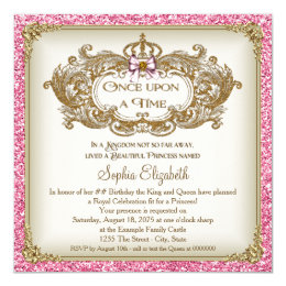 Once Upon a Time Princess Birthday Party Card