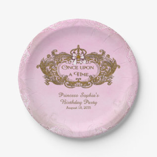 Once Upon A Time Princess Birthday Party Paper Plate at Zazzle