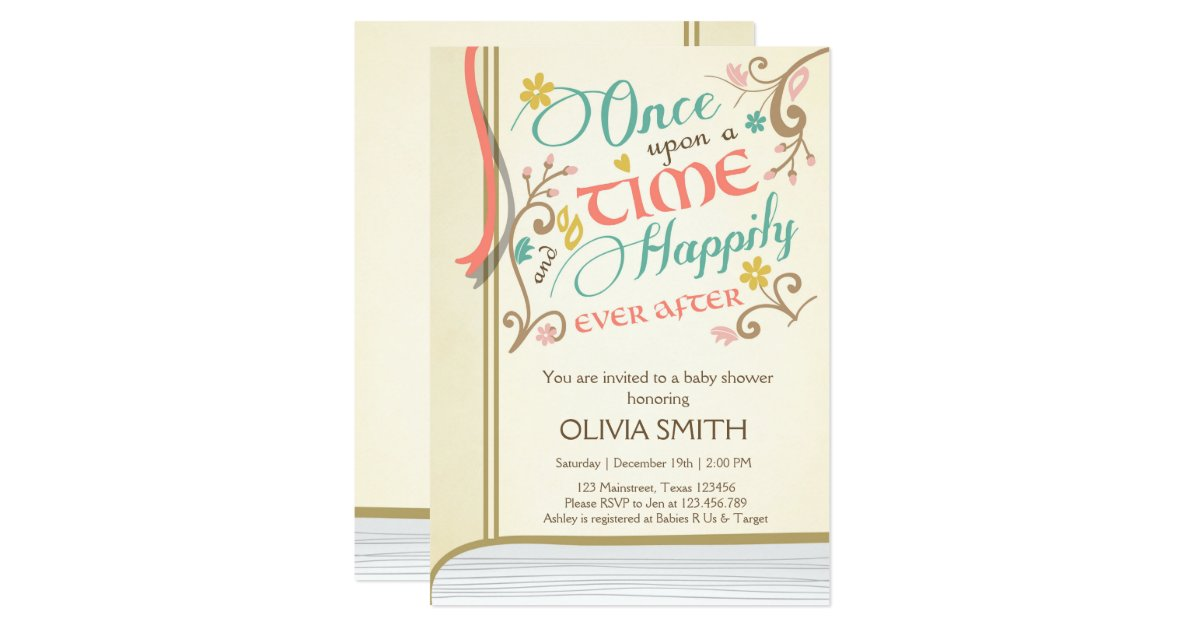 Once Upon A Time Baby Shower Invitations – diabetesmang.info