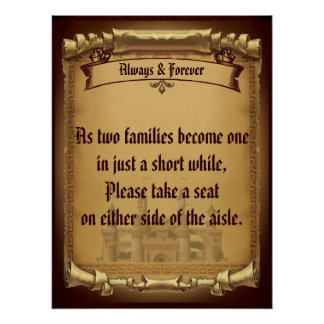 Once Upon a Time Wedding Aisle Poster